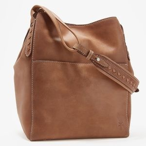 Frye Reed Tan Smooth Leather Hobo NWT